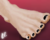 *V Real Feet Black Nails
