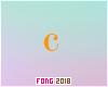 Fo. C Letter Orange