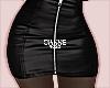 leather zip mini black