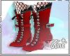 Red/Black Lolita Boots