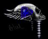 Skull Love sticker blue