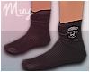 ! Skull Black Socks