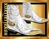 [L] Gold Tip White BootM