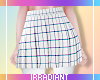 Grid Skirt | White