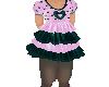 Flat Purple Ruffle Dress