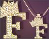 Gold Chain F Letter Fem
