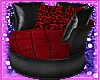 Red &Blk privacy chair