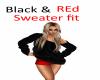 Blac  sweater w/ red