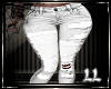 White Jeans Patchwork LL