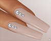 $ Tan Diamond Nails