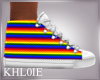 K gay pride LGBT shoes