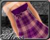 {A}Violet Plaid Dress