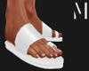 T+M   White Sandals