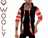 Jacket sweater vest red