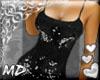*MD*sequins Black Top