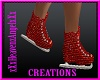 Red Glitter IceSkates