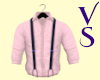 Pink With Navy Blue Susp