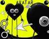 Black Heart Arrow Avatar