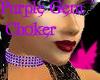 Diamond Choker Purple