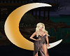 Gold 1/2 Moon Accessory