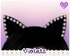 V| Black Kitten Ears