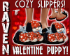 VALENTINE PUPPY SLIPPERS