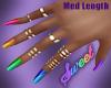 Rainbow Nails Gold Rings