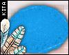 K! Furry Rug Blue