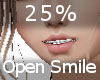 25% Open Mouth Smile F A