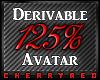 125% Avatar Derive