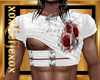 [L] White Rosses Top M