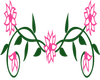 5 Pink  Flowers