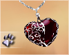 (dp) Blood Heart Necklac