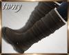 Flat Calf Boots Slate