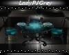 =PJ= Teal Dining Table