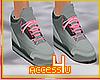 ! Grey Retro Sneakers