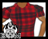 !S! Plaid Polo Red