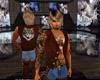brown wolf vest