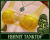 Fishnet Top Yellow