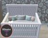 Mint nursery crib