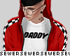 $ red daddy hoodie
