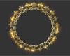 Gold Sparkle Circle