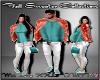 D- Fall Sweater Teal Lrg