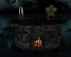 Brick black Fireplace