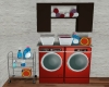 Red Washer/Dryer
