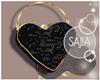 S! Black Heart Bag