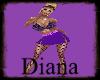 purple fishnet skirt