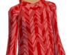 [W]Red Zigzag Hoody
