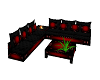 red/black sofa