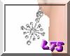 Slvr/Dia Star Earrings